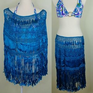 Womens Bathing Suit Cover Up Turquoise Blue